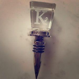 """🍷 Monogram """"K"""" Wine Stopper"""